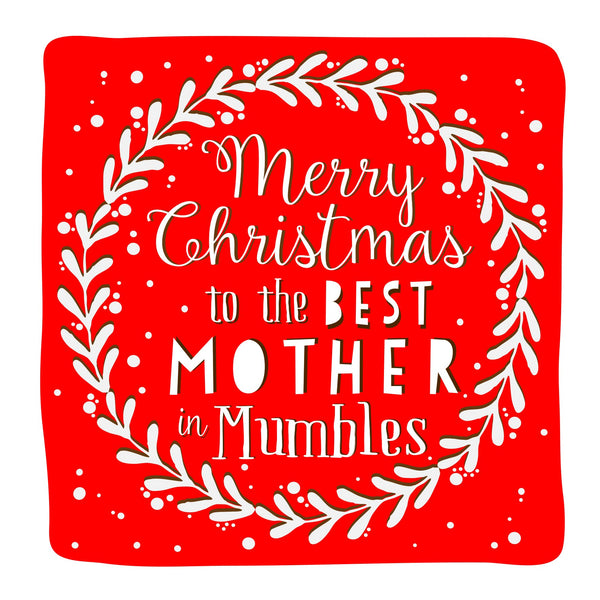 Best Mother Wreath Christmas Location Card