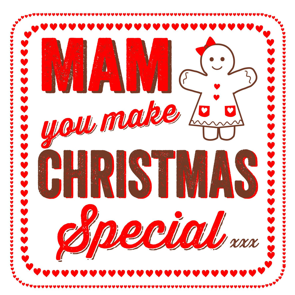Mum / Mam/ Mother Gingerbread Christmas Location Card