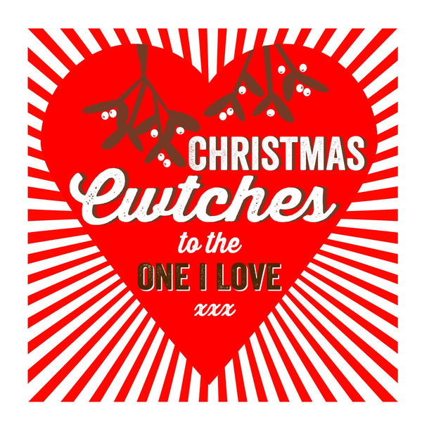 Cuddles/ Cwtches One I love Christmas Location Card