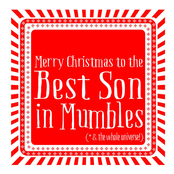 Best Son Snowflake Christmas Location Card