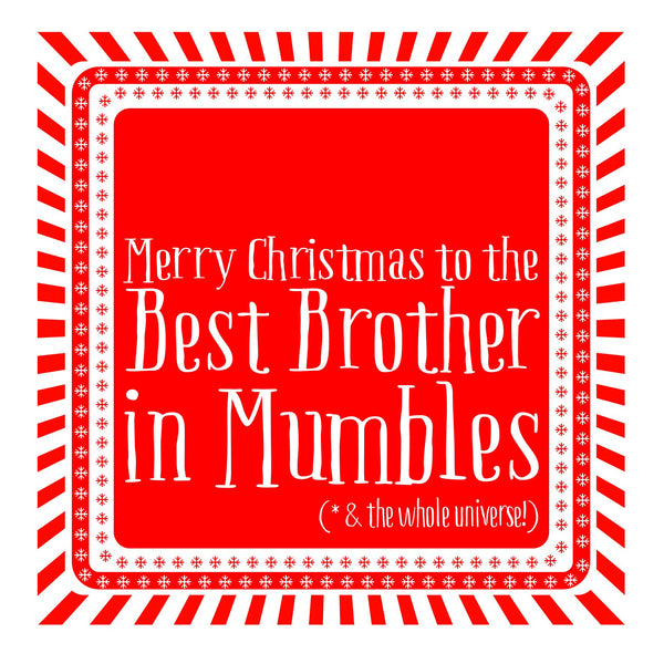 Best Brother Snowflake Christmas Location Card
