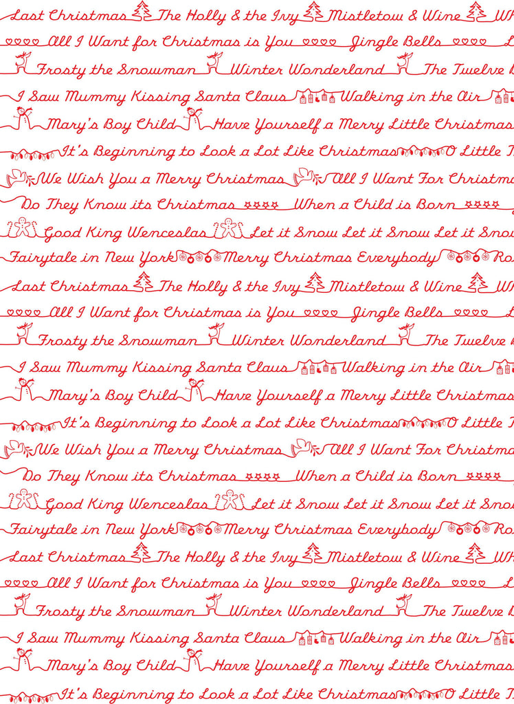 Christmas Song Sheet White Christmas Wrap