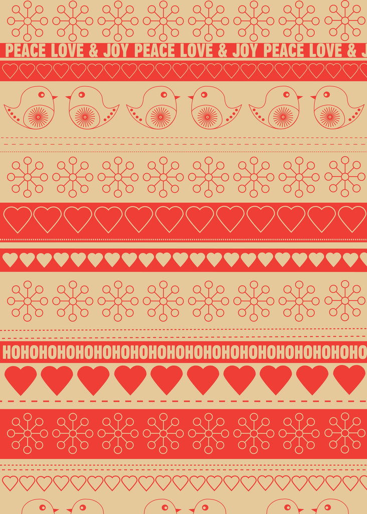 Festive Ribbon Kraft Christmas Wrap