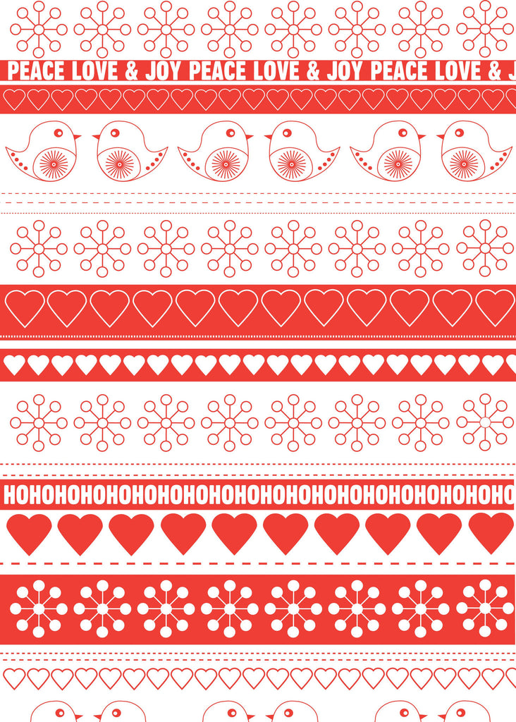 Festive Ribbon White Christmas Wrap