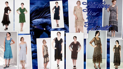 The best vintage style dresses for coming 2014 blue horse year
