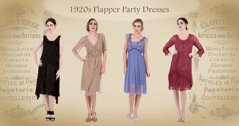 1920s Flapper Party Dresses