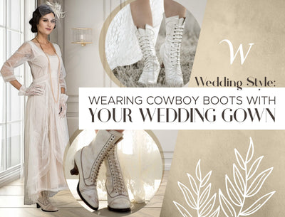 Wearing Cowboy Boots with your Wedding Gown