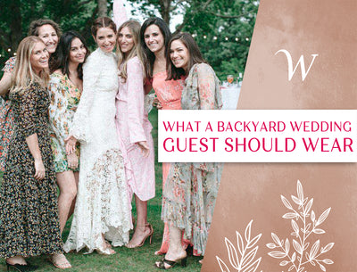 What A Backyard Wedding Guest Should Wear
