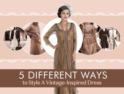 5 Different Ways to Style A Vintage-Inspired Dress