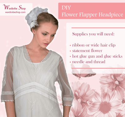 DIY Flower Flapper Headpiece