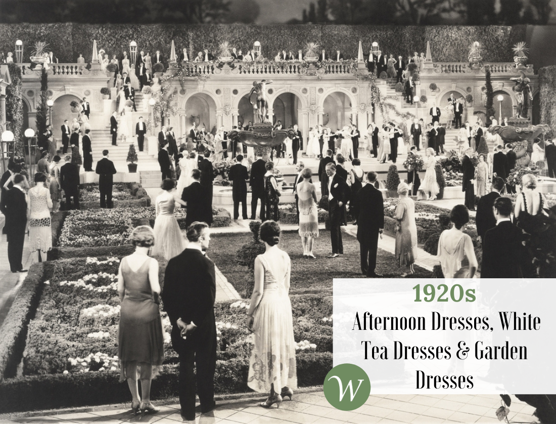 1920s Afternoon Dresses, White Tea Dresses & Garden Dresses