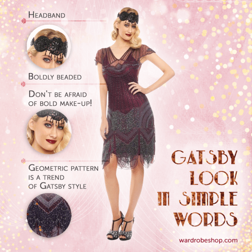 The most impressive and festive idea for a party look definitely has to be the Gatsby look