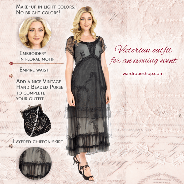 Most Victorian Looks are ornate, here's a guide for creating the simple victorian look