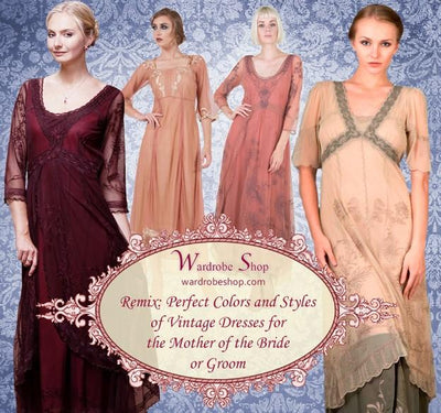Remix: Perfect Colors and Styles of Vintage Dresses for the Mother of the Bride or Groom