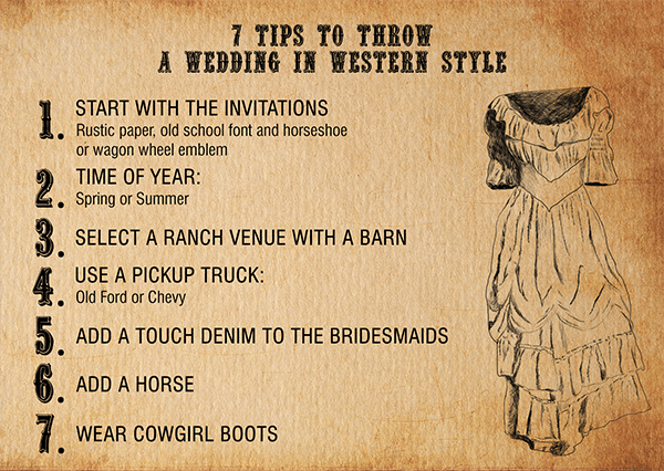 7 Tips How to Plan Your Western Themed Wedding