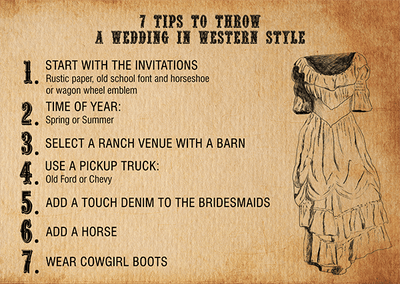 7 Tips to throw a Wedding in Western Style
