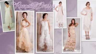 Reception dresses in Vintage style