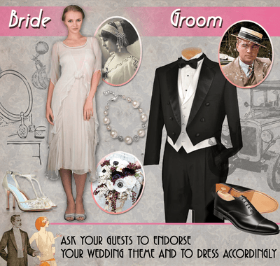 Different period: The Great Gatsby wedding