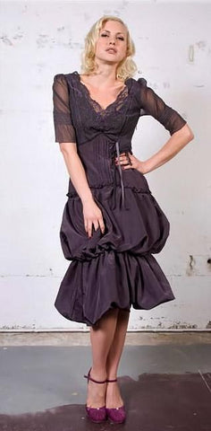 Baroque-Style Bell-Bottomed Dress