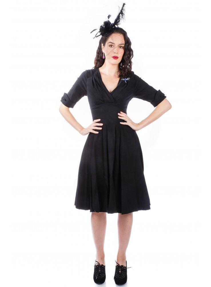 1950s Kennedy Party Dress in Black