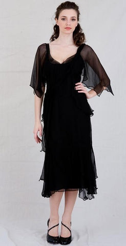 Chiffon cocktail black dresses or evening black gowns