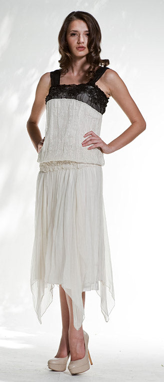 the 1920's style dress with the low waist