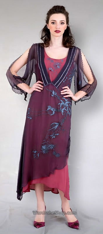 vintage style dress in violet