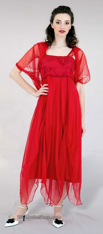 red vintage style dresses