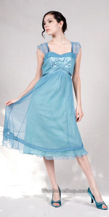 embire baby doll dress in blue