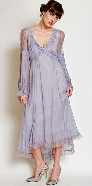 The Neo-classic dress in Lavender.