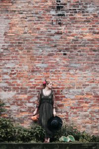 Vintage inspired gown from 20s fashion