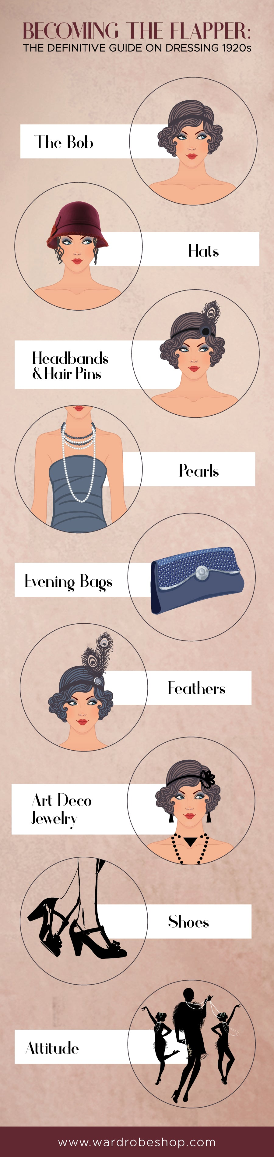 how to style a vintage inspired dress infographic