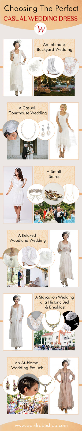 Casual Wedding infographic