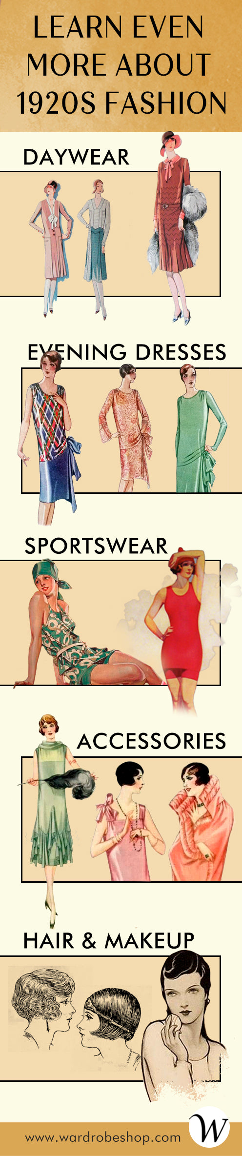 1920s fashion infographic