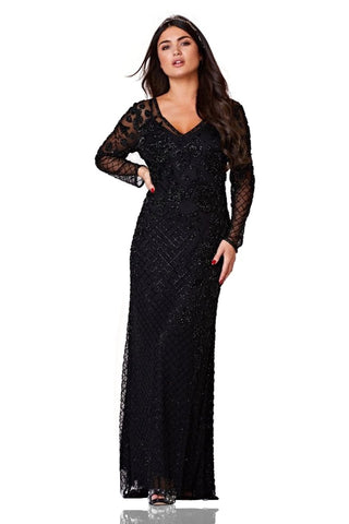 Parma 1920s Inspired Gown in Black