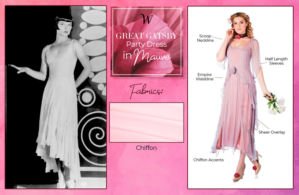 Great Gatsby Party Dress in Mauve