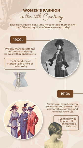 Women's fashion between 1900s and 1910s