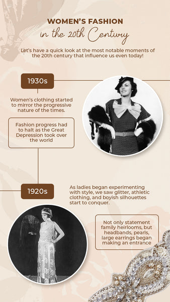 Women's fashion between 1920s and 1930s