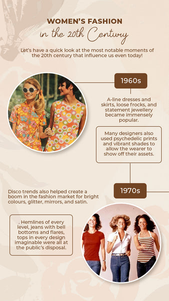 Women's fashion between 1960s and 1970s