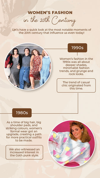 Women's fashion between 1980s and 1990s