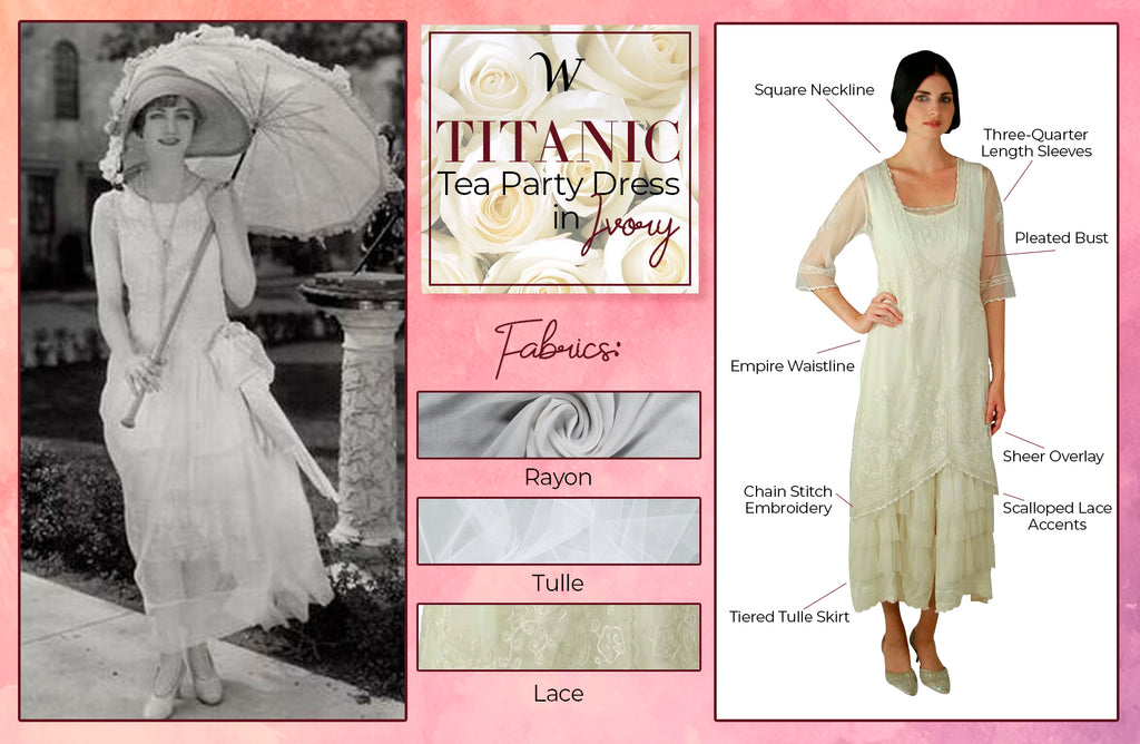 Titanic Party Dress in Ivory