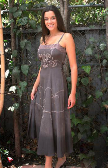 vintage style dress in grey