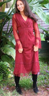 Vintage-style dress in red