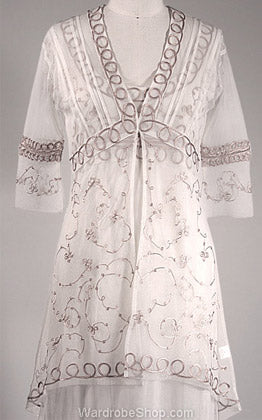 Embroidered victorian inspired vintage style lace wedding jacket al-3301 by nataya