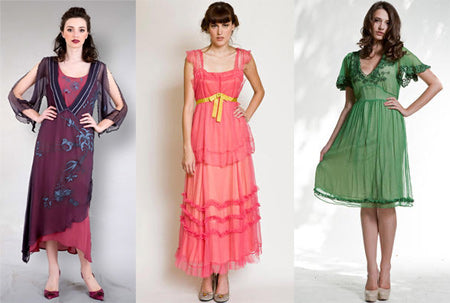 vintage clothes for clear spring type