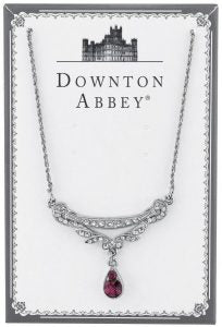 Downton abbey amethyst crystal necklace