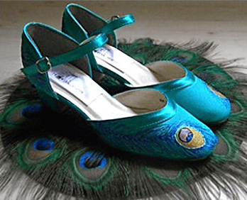 """Flapper style wedding shoes in Tuquoise, Model """"Ginger"""""""
