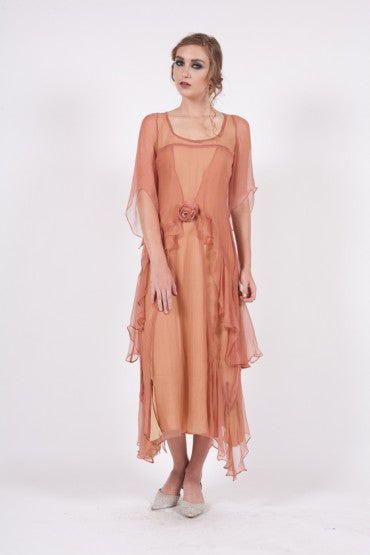 New Year Party Dress in Rose and gold
