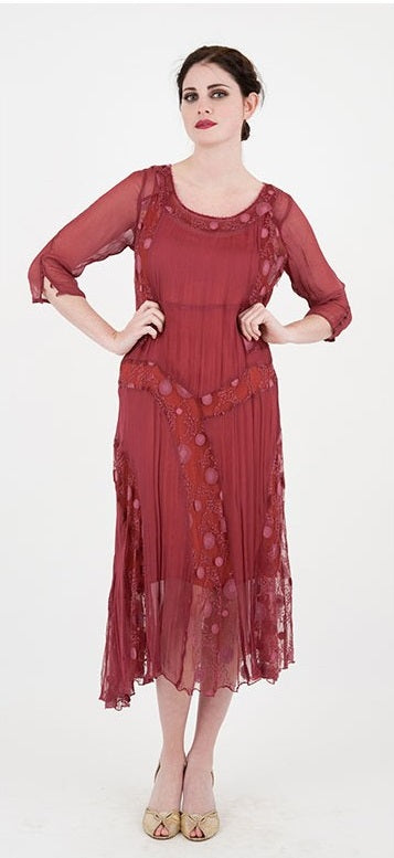 New Year Party Boho Vintage Inspired Dress