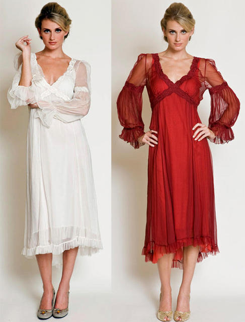neoclassic dress for vintage winter wedding
